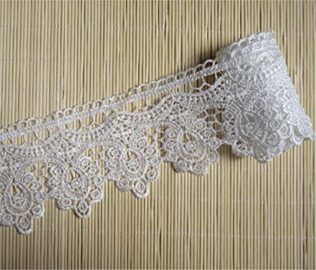 DIY 10Yards Cotton Crochet Lace Decorative Clothing curtain sofa accesories1.6cm