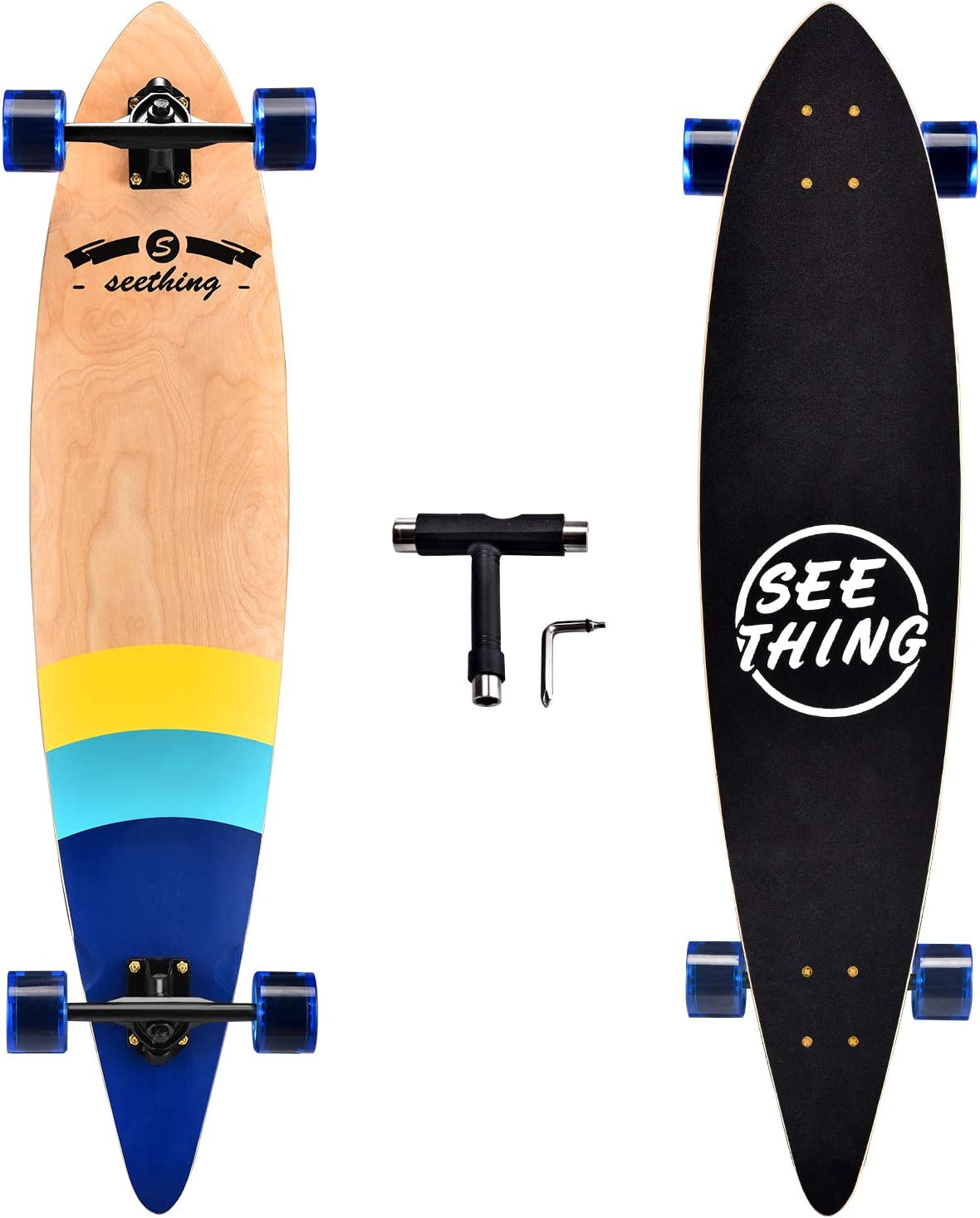Seething 42-Inch Complete Cruiser Pintail Longboard