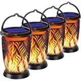 YoungPower Solar Lanterns Outdoor Lights Dancing Flame Outdoor Hanging Lanterns Decorative Lighting Heavy Duty Solar Powered