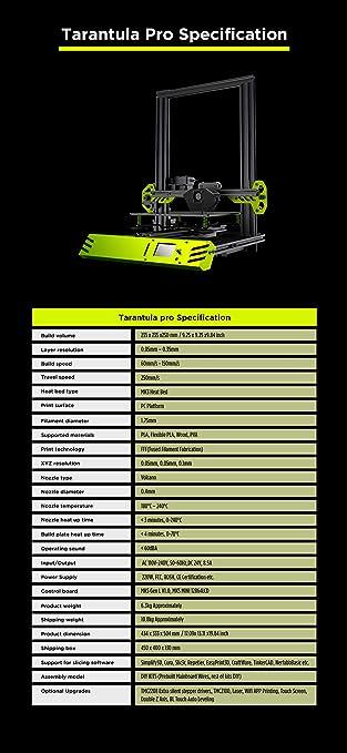 TEVO 2019 New Tarantula Pro 3D Printer DIY kit Aluminum Extrusion for Filament PLA ABS TPU Build Volume 235X235X250mm