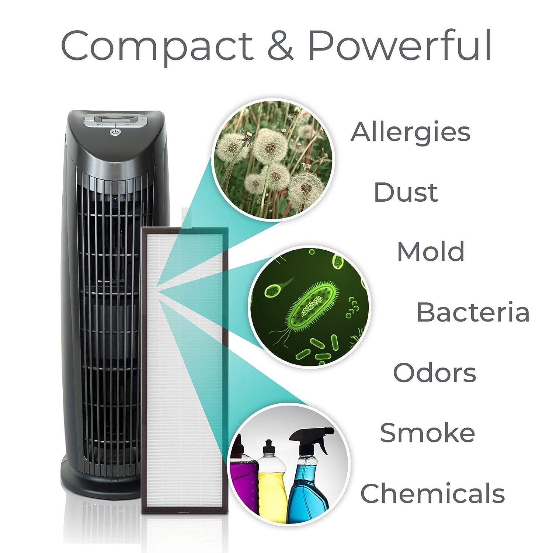 Alen T500 HEPA Air Purifier, Antibacterial, Black
