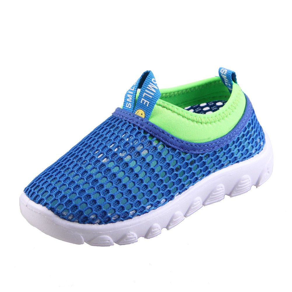 CIOR Kids Casual Shoes Breathable Slip-On Sneakers for Walking Running Toddler/Little Kid/Big Kid,SK1106,N.Blue,22