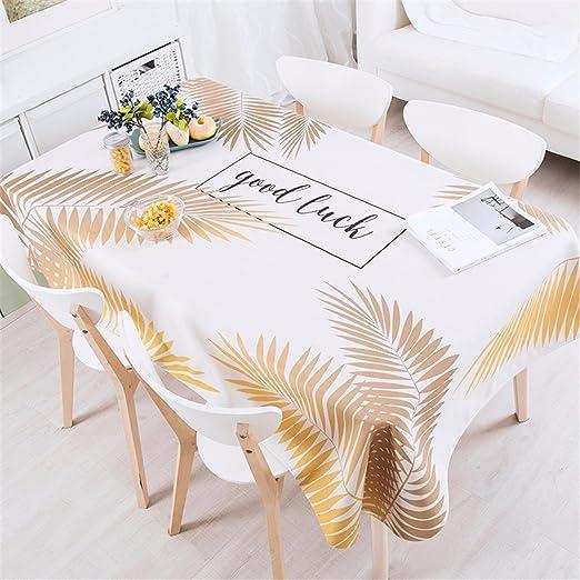 140 * 220 cm color beige dorado hoja de palmera Instagram mantel ...