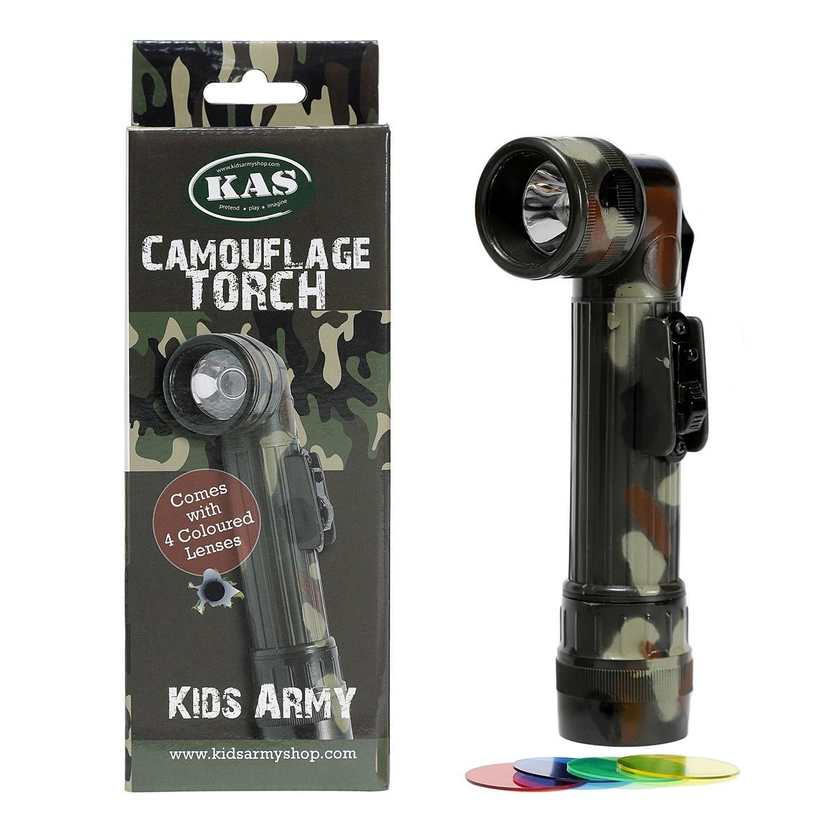 KAS Kids Camouflage C Torch-4 coloré Lenses-Camo armée Roleplay, C Cell 1016