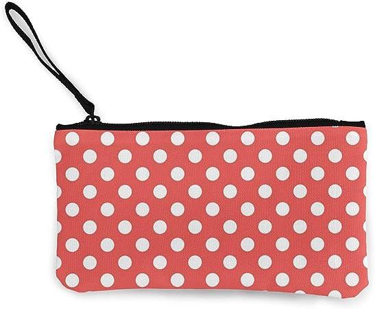 Terany - Estuche de Lona para lápices, diseño de Lunares, Color Rojo y Blanco: Amazon.es: Hogar