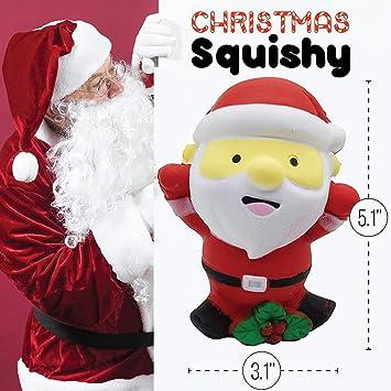 bb86a651b6149 Amazon.com  Katsu Retail Group Large Squishes Slow Rising Prime Christmas  Santa Squishy