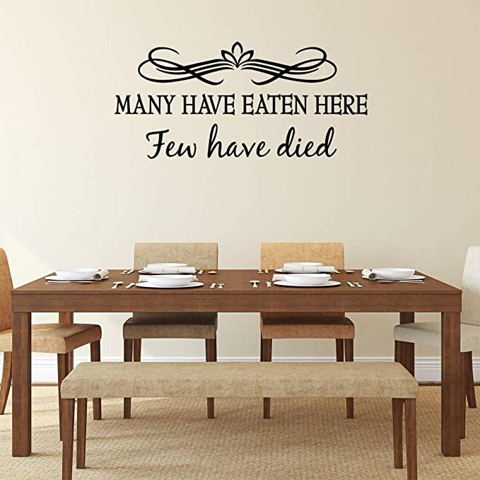 Many Have Eaten Here Few Have Died Sign Wall Plaque Funny Kitchen Dining Decor