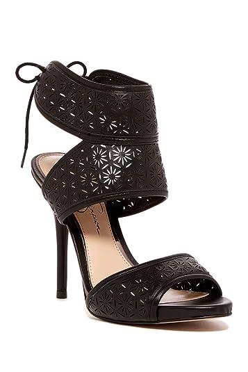 d8a1dab0cd Amazon.com | Jessica Simpson BARCIA Laser Cut Sandals Black, 6 | Sandals