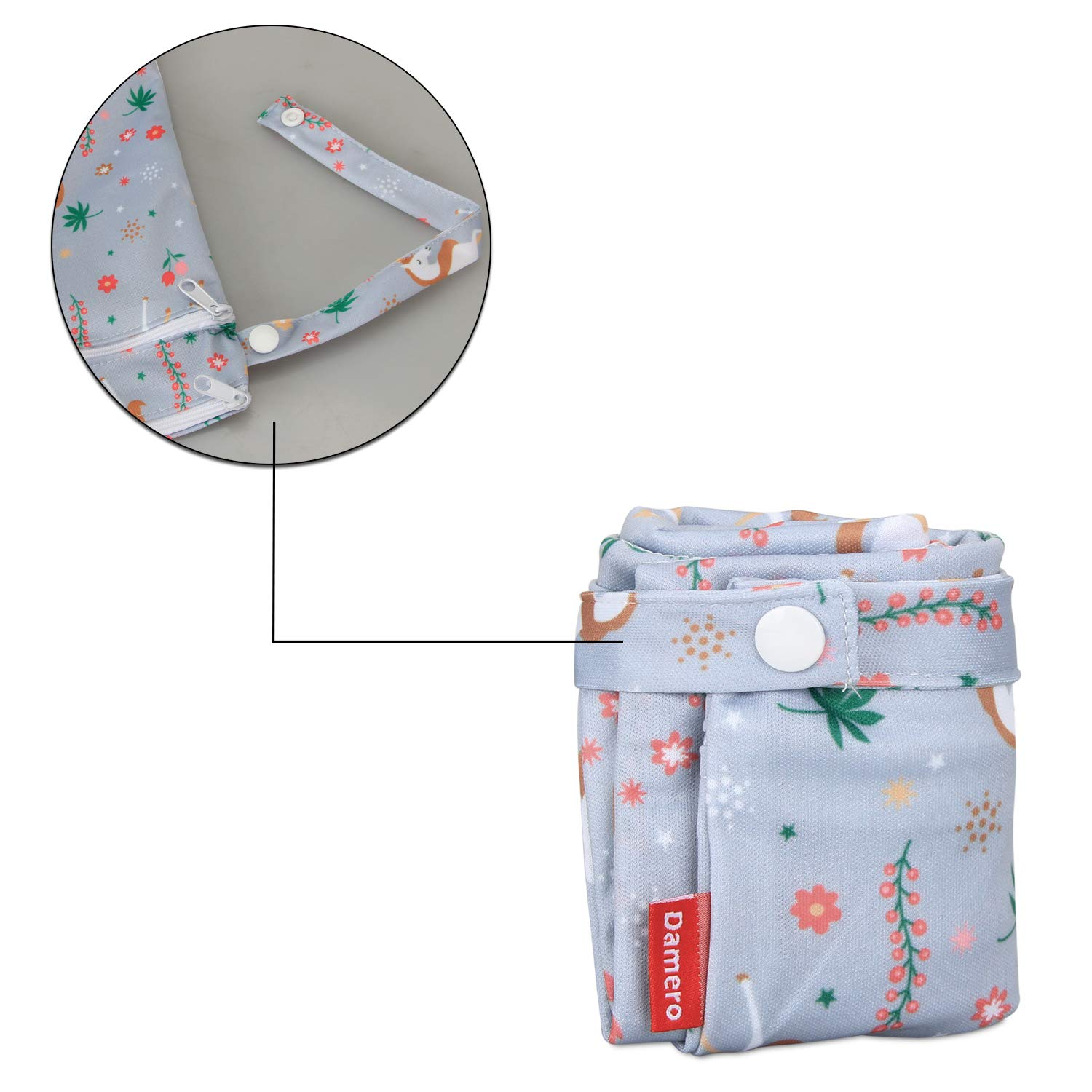 Damero Cloth Diaper Wet Dry Bags Clothes Small,Unicorn Pumping Parts Swimsuit and More Travel Wet and Dry Bag with Handle for Cloth Diaper Reusable and Water-resistant