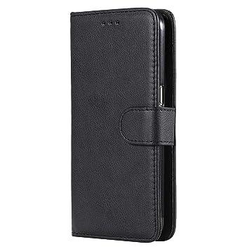 DENDICO Funda Galaxy S7, Ultra-Fina Flip Libro Carcasa de Cuero, Piel Protección Cover para Samsung Galaxy S7 - Negro