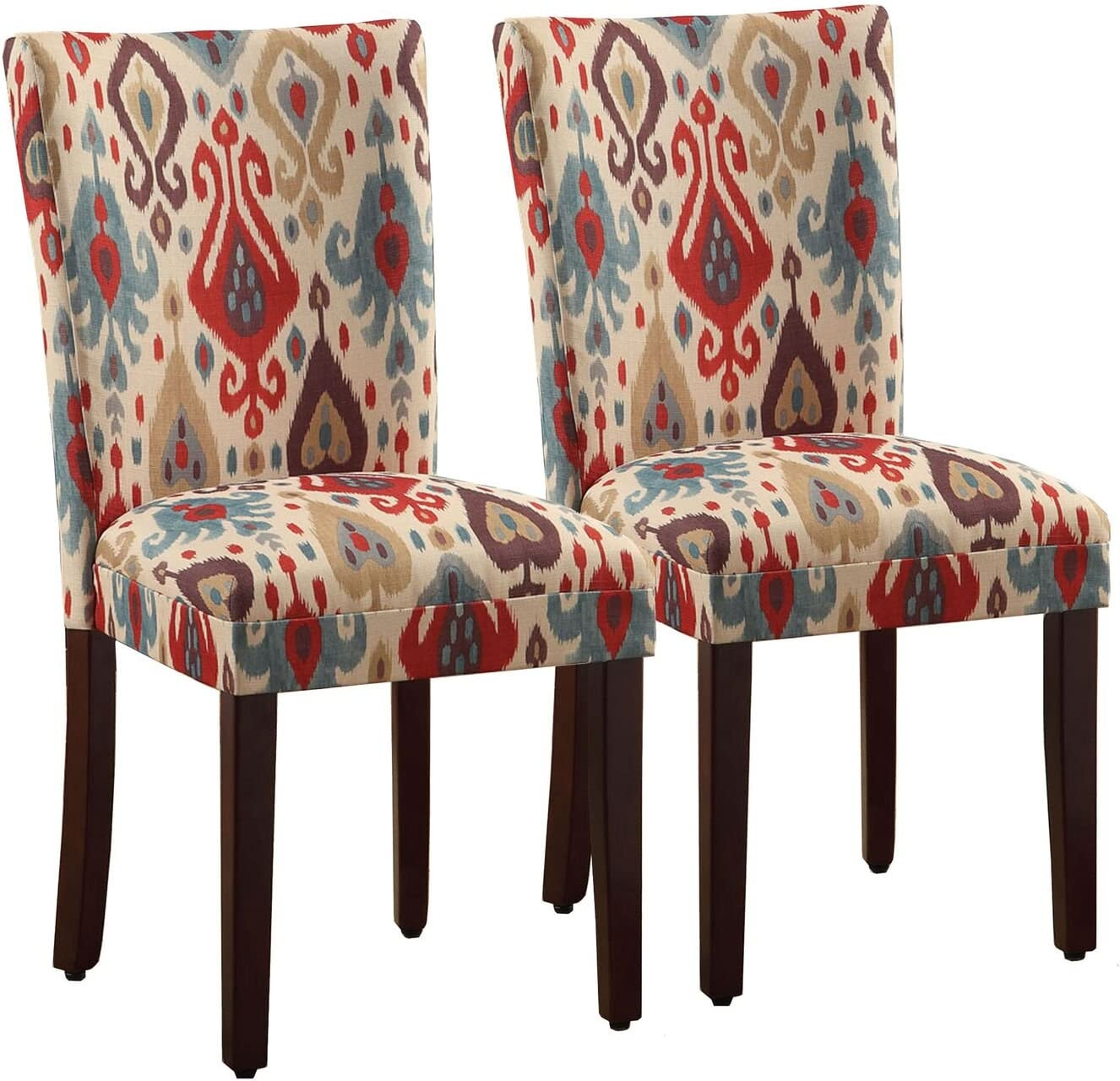 HomePop Parsons Upholstered Accent Dining Chair, Set of 2, Sienna - Chairs