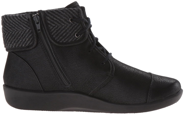 CLARKS Women's B(M) Sillian Frey Boot B0198WFU00 5.5 B(M) Women's US|Black Synthetic Nubuck 79ad1f