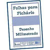 Bloco Para Fichario Universitário Milimetrado A4 210x297 50Folhas - 01 Unidade Tamoio, Multicor