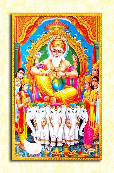 Tamatina God Wall Poster Lord Vishwakarma Hd Quality Poster