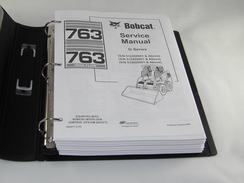 Amazon.com: Bobcat 763 G Series Skid Steer Loader Complete Shop Service  Manual - Part Number # 6900977: Automotive