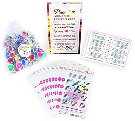 123 piece 2 bridal shower games includes 50 purse game cards 72