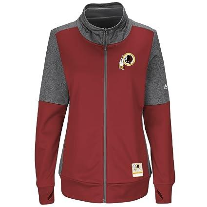 Washington Redskins Women s Majestic NFL  quot Speed Fly quot  Full Zip  Fleece Jacket - Burgundy 8f7a2e35f