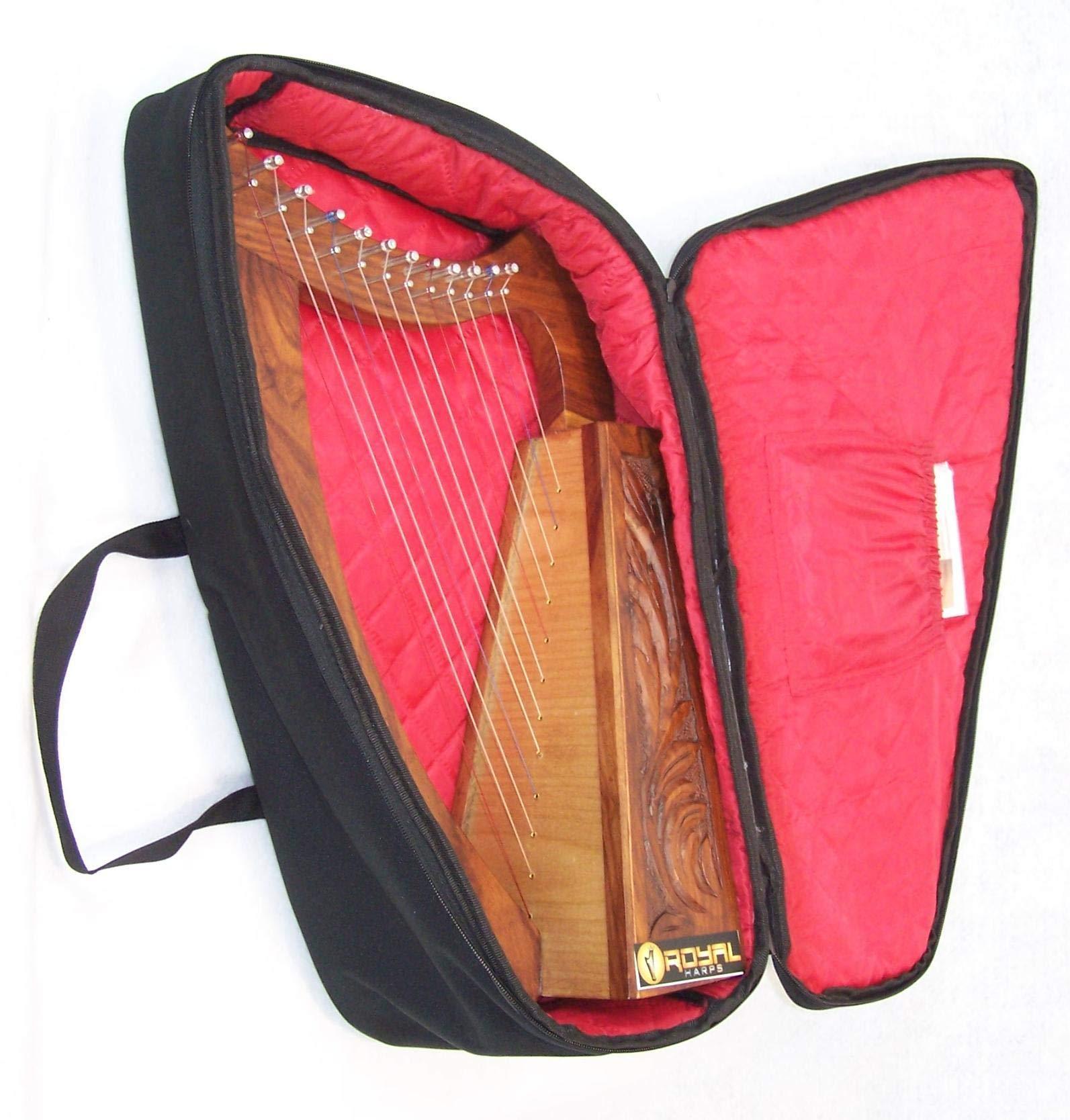Celtic Irish Baby Harp 12 Strings Solid Wood Free Bag Strings Key by ROYAL HARPS (Image #4)