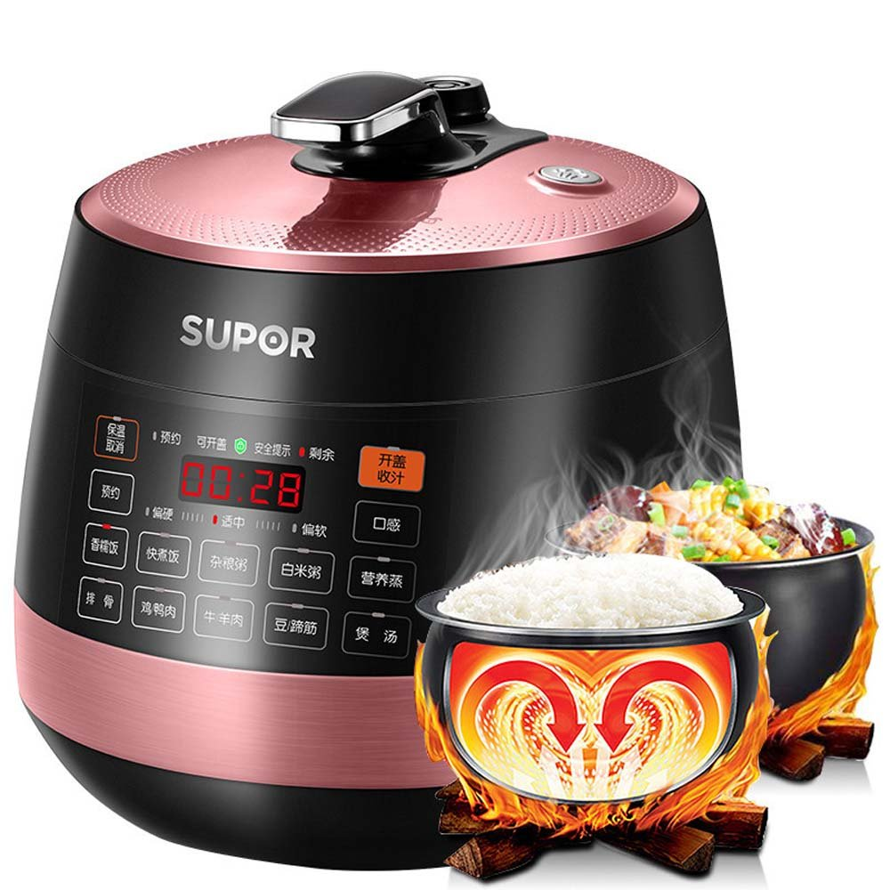 SUPOR 5 Litre Smart Rice Cooker Electric Pressure Cooker Two Inner Pot 苏泊尔电压力锅双胆 电饭煲 煲汤锅 2017年升级款