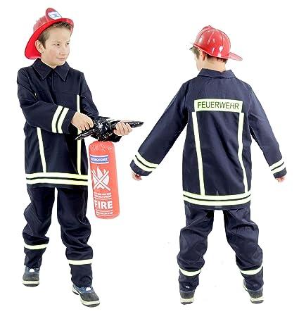 außergewöhnliche Auswahl an Stilen besserer Preis letzte Auswahl Foxxeo Feuerwehr Kostüm für Kinder Feuerwehrkostüm Jungen Faschingskostüm  Größe 92-98