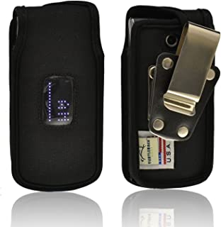 product image for Turtleback Fitted Case Made for LG Wine III 3 UN530 Phone Black Nylon Heavy Duty Rotating Removable Metal Belt Clip Made in USA