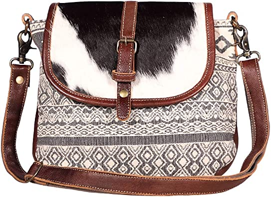 Amazon Com Myra Bags Peppy College Canvas Rug Leather Hairon Shoulder Bag S 1946 Shoes Our white & brown hairon bag are made in such a way that it maintains a stylish look without compromising the quality or the comfort level of the. amazon com
