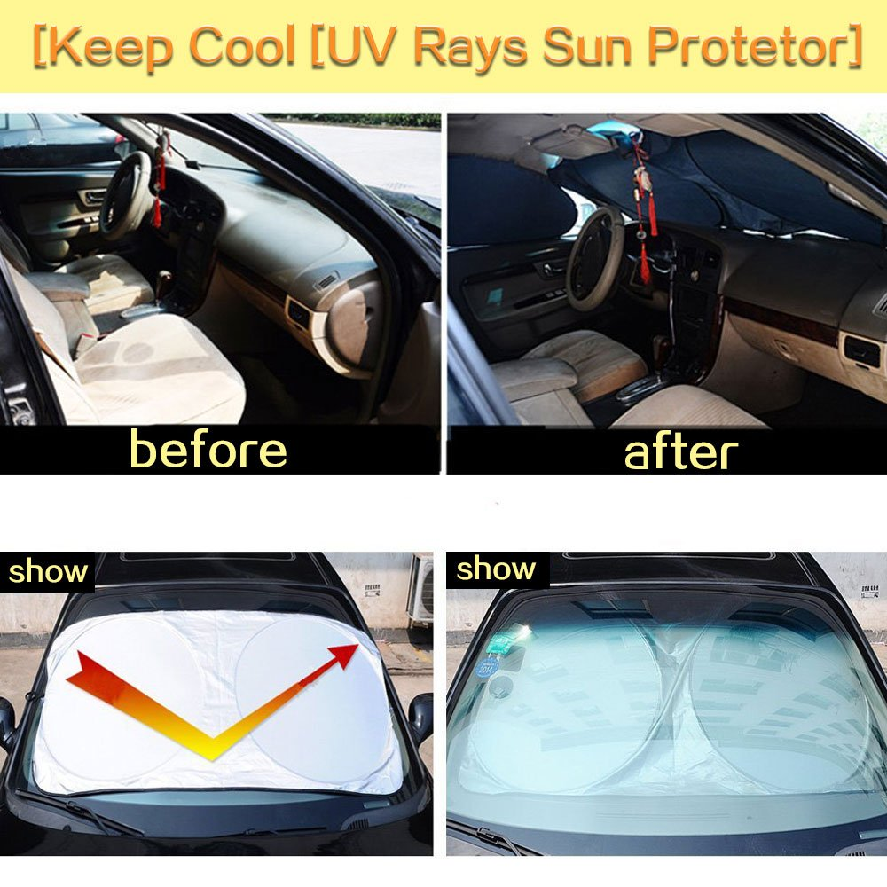 Cosyzone Windshield Sunshade 6 Pieces Car Sun Shade Side Uvw Electric Motor Wiring Diagram Rear Window Shades Uv Rays Visor Protector Keeps Vehicle Cooler Automotive