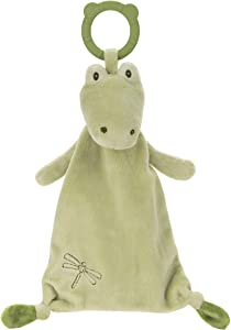 """GUND Baby Baby Toothpick Ensley Alligator Teether Lovey Plush Stuffed Animal and Security Blanket, Green, 13"""""""