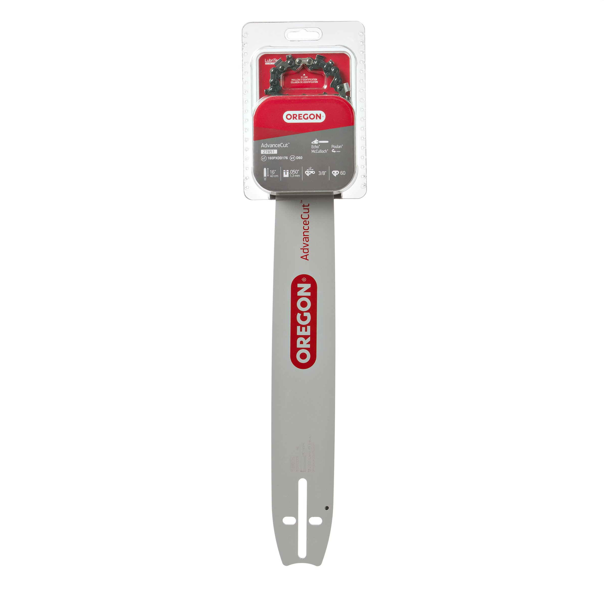 Oregon 16-Inch Bar & 72V Chain Saw Blade Combination Fits Craftsman, Echo, McCulloch 27851