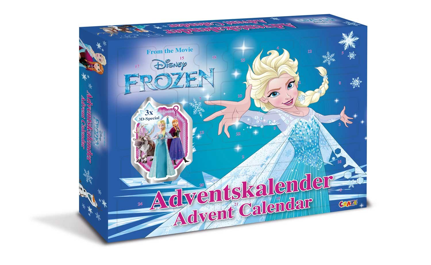 Craze 13885 Advent Calendar Disney Frozen