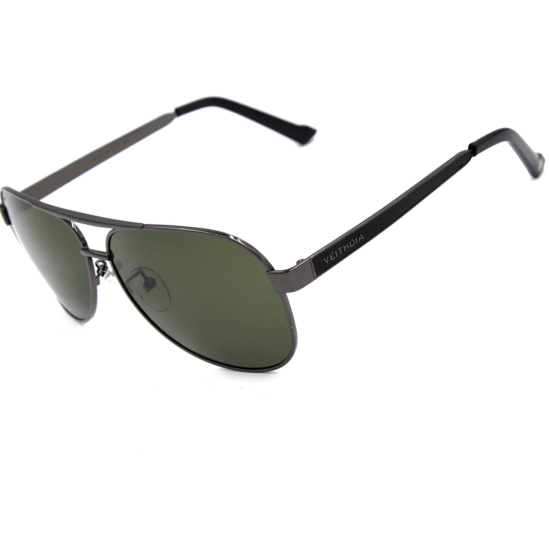 Amazon.com  VEITHDIA 3152 High Grade Classic Polarized Aviator Sunglasses  100 UV Protection (Grey)  Shoes 663ed01331d4