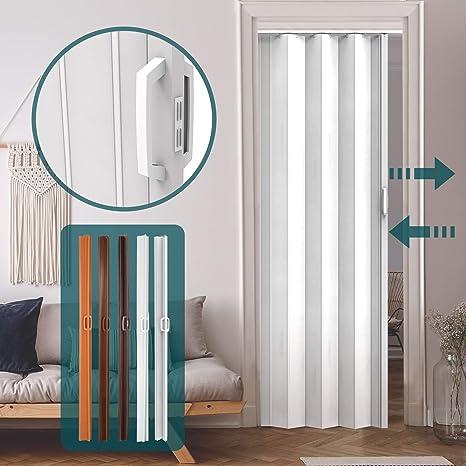 Jago - Puerta plegable de PVC - Blanco - Aprox. 203 x 82 cm - Diferentes colores a elegir: Amazon.es: Bricolaje y herramientas