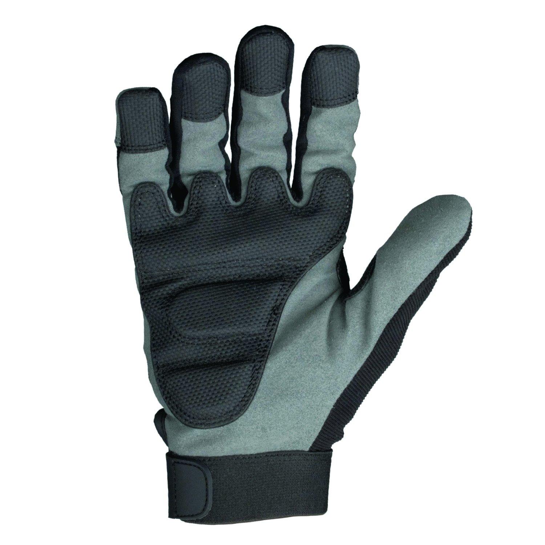 Leather work gloves screwfix - Dewalt Dwgptg Powertool Gel Gloves Dpg33l Black Grey