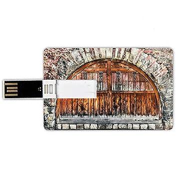 8GB Forma de tarjeta de crédito de unidades flash USB Rústico ...