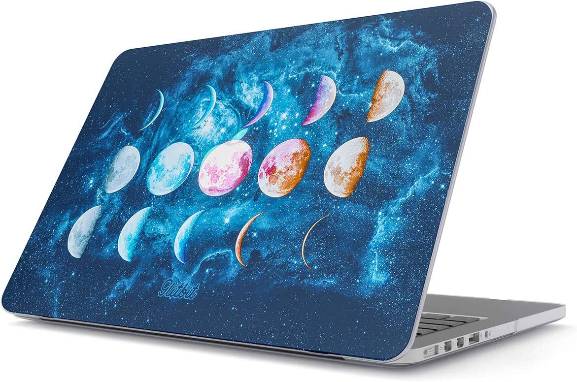 """Glitbit Hard Case Cover Compatible with MacBook Air 11 Inch Case, Model: A1370 / A1465 11-11.6 Inch 11"""" Moon Phases Galaxy Star Nebula Cosmic Universe Cosmos Tumblr Luna Outer Space"""