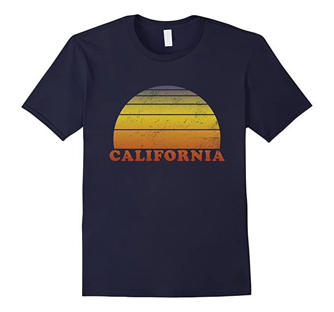 60s -70s  Men's Costumes : Hippie, Disco, Beatles California Retro Vintage T Shirt 70s Throwback Surf Tee $19.99 AT vintagedancer.com