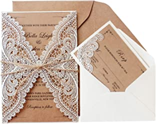 Amazon Com Picky Bride Rustic Wedding Invitations