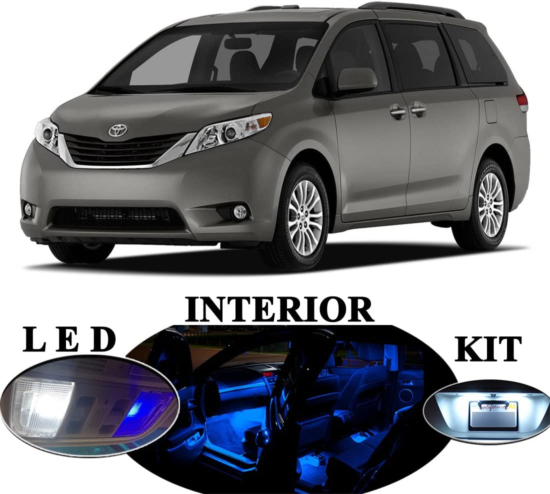 Interior 18 Pcs Reverse for Toyota Sienna License LED Package Vanity