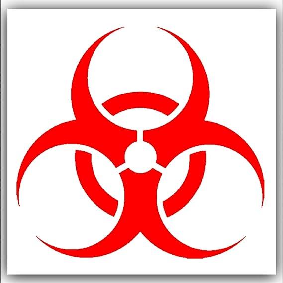 Biogefährdung 6 Stück Rot Auf Weiß Extern Selbstklebend Warnung Aufkleber Biohazard Health And Safety Signs Baumarkt