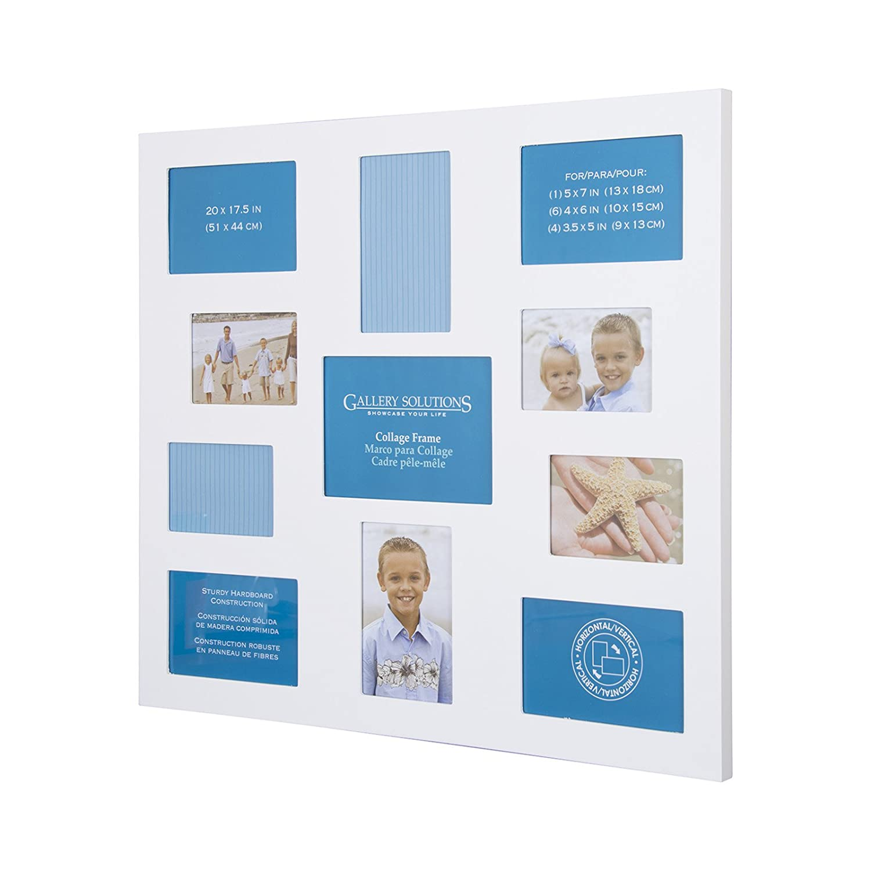 Pinnacle 11 Opening Laser Cut White Collage Frames: Amazon.co.uk ...