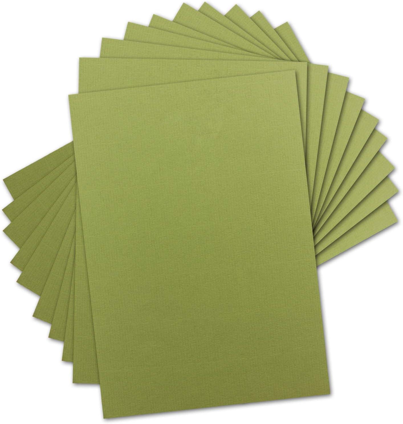 50 Blatt Ton-Karton DIN A4 Gl/üxx-Agent Farbe: Pistazie -Ton-Papier 160 g//m/² Gerippte Oberfl/äche Ton-Zeichen-Papier Bastel-Papier Bastel-Karton