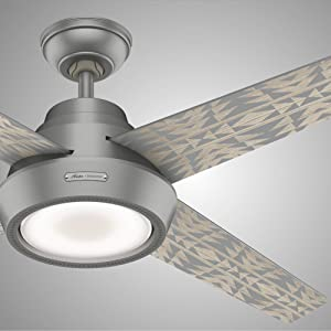 Hunter Canyonlands Indoor Ceiling Fan with LED Light and Remote Control, 54