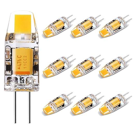 No Flicker Led G4 Bulb 12v 10w Halogen Replacement Bi Pin Base