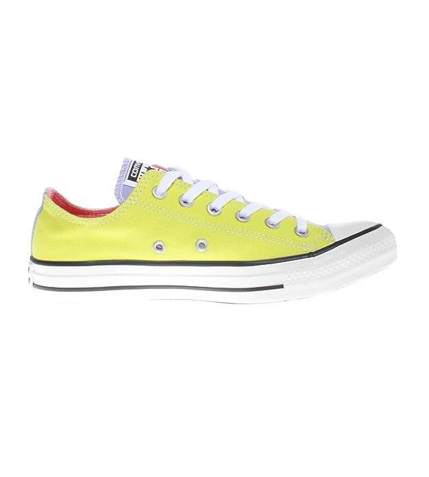 Converse Chuck Taylor (Chucks) All Star Ox Sneaker Unisex-Erwachsene Grün / Gelb