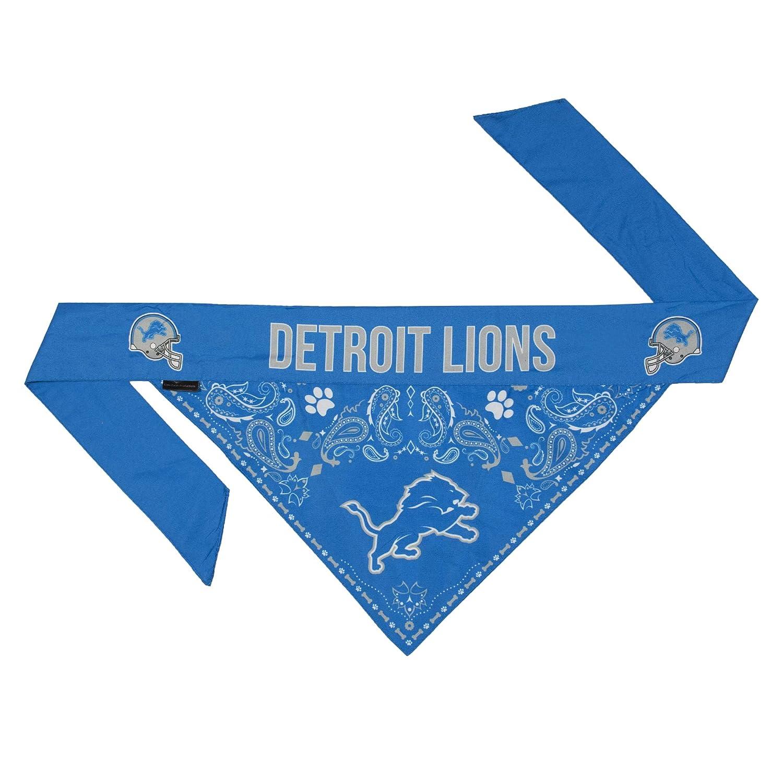 Revesible Detroit Lions Dog Bandana