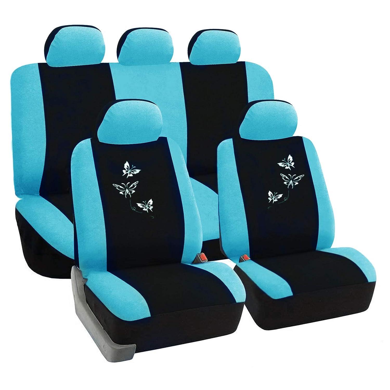 SITU universal Auto Schonbezug Komplettset Sitzbezü ge fü r Auto mit Butterfly schwarz/lila SCSC0051