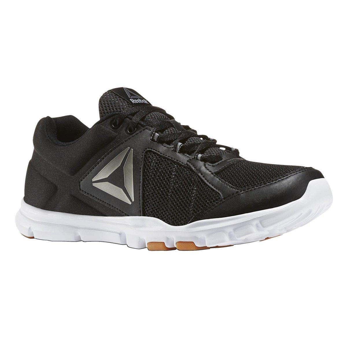 Reebok Men's Yourflex Train 9.0 MT Cross-Trainer Shoe, Black//White/Gum/Pewter, 10 M US