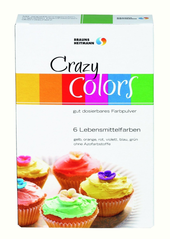 Brauns Heitmann Crayzy Colors Farbpulver 6x4g Lebensmittelfarbe zum ...