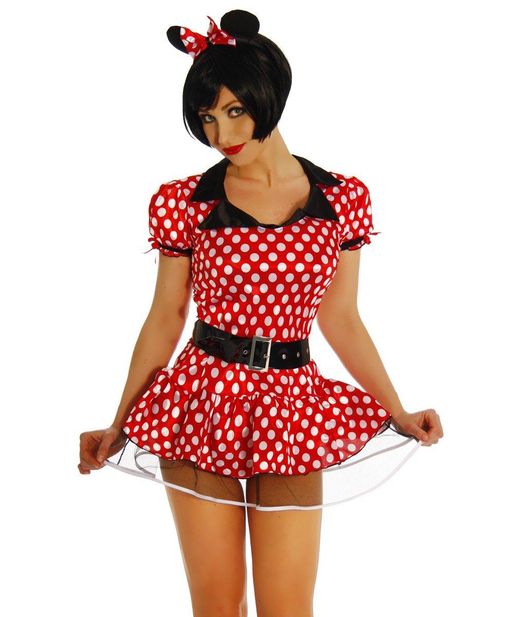 traje del Carnaval del ratón de Minnie Mouse 6 tlg vestido ...