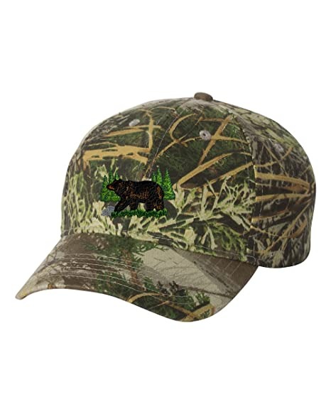 fd6f99cb79c38 Black Bear Custom Personalized Embroidery Embroidered Camouflage Hat at  Amazon Men s Clothing store